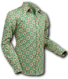 Chenaski overhemd dotsgrid green