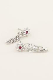 My Jewellery Oorhangers bloem & steentje