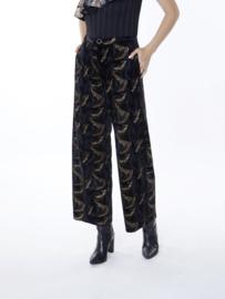 Meisïe - Velvet broek zwart