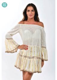 NJ Couture off shoulder dress