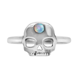 Happy hippies Ring Skull opaal sterling zilver