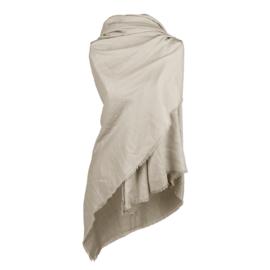 Heerlijke omslagdoek taupe