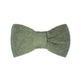 Haarband Cozy bow olijfgroen