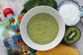 Smoothie van Kiwi, Banaan en Vanille yoghurt