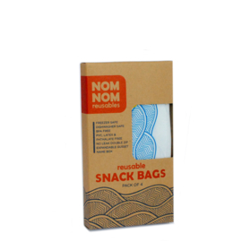 Nom nom reusables wave set van 4 snackzakjes