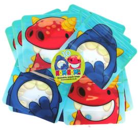 Nom Nom Kids set van 10 snackzakjes