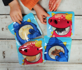 Nom Nom Kids set van 4 snackzakjes