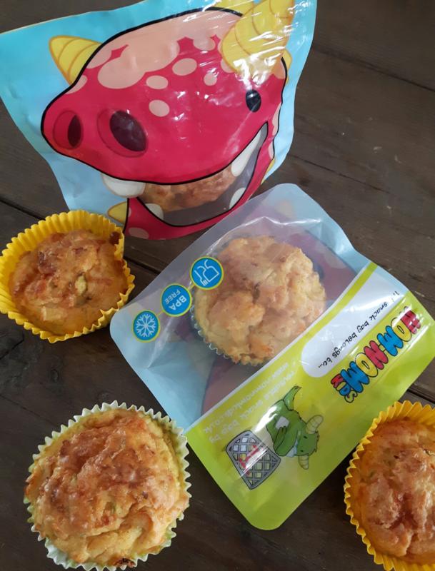 Groente muffins met wortel en courgette