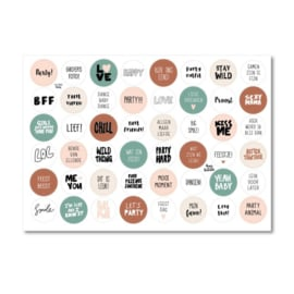 A4 Stickervel met 48 stickers - Thema Party