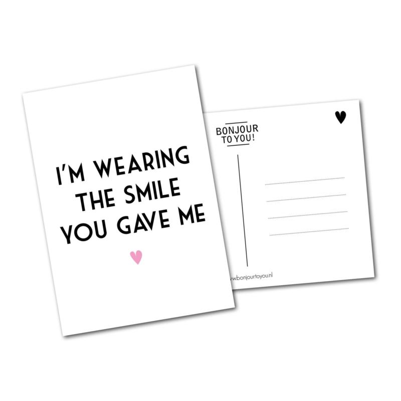 Smile! ansichtkaart