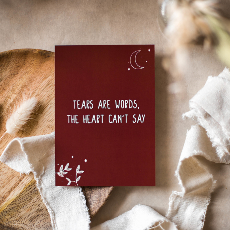 Tears are words, kaart