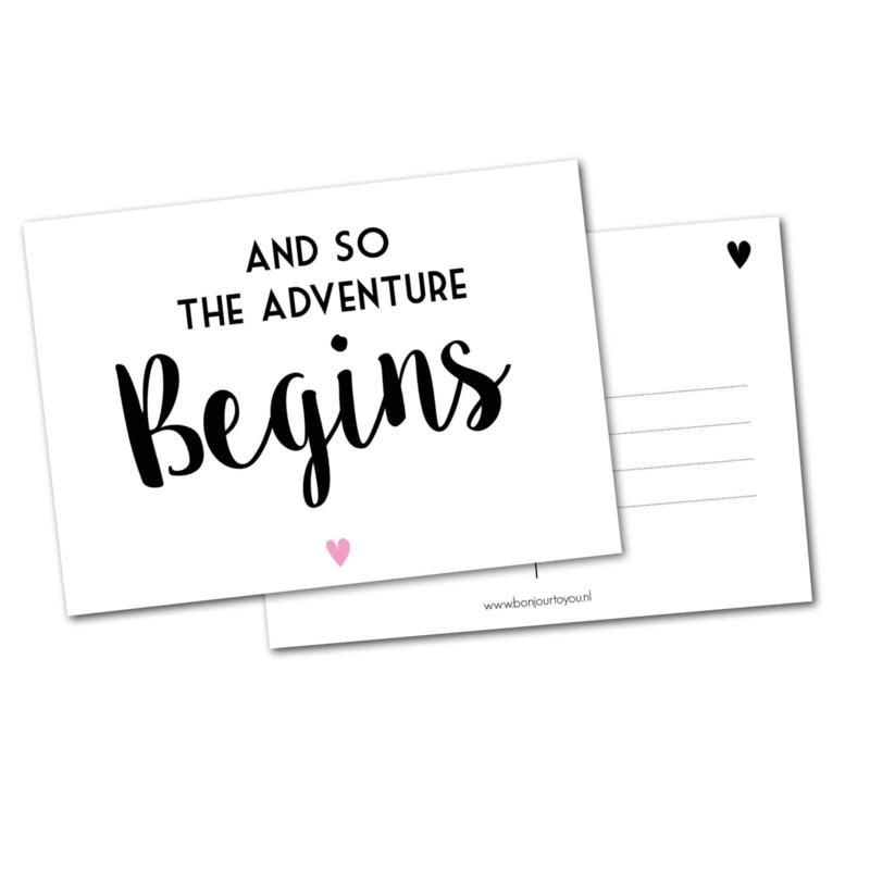 Adventure begins! ansichtkaart