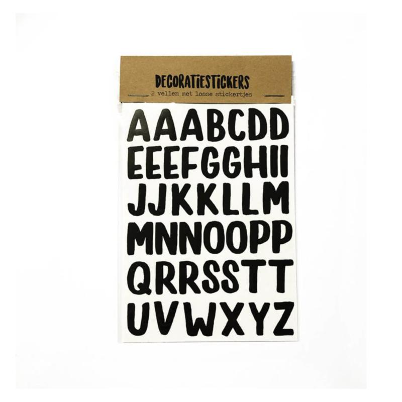 DIY Decoratiestickers letters
