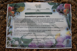 Duivelsklauw gesneden 3000 gram.  PRIJSPAKKER! (navulverpakking)