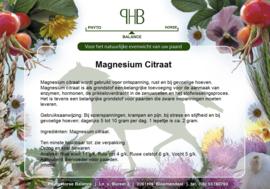 Magnesium Citraat 100 % humaan zak 500 gram