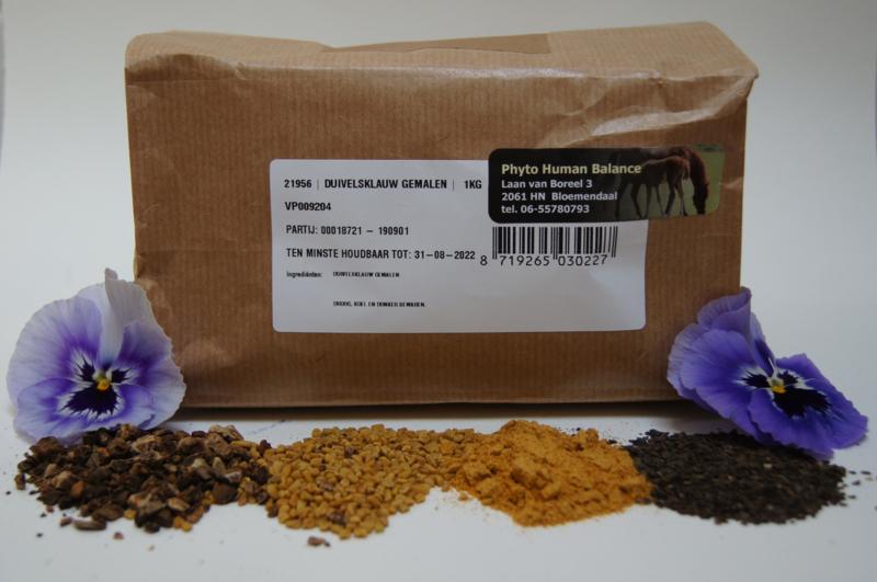 Duivelsklauw gemalen 1000 gram (zak) 100% humaan