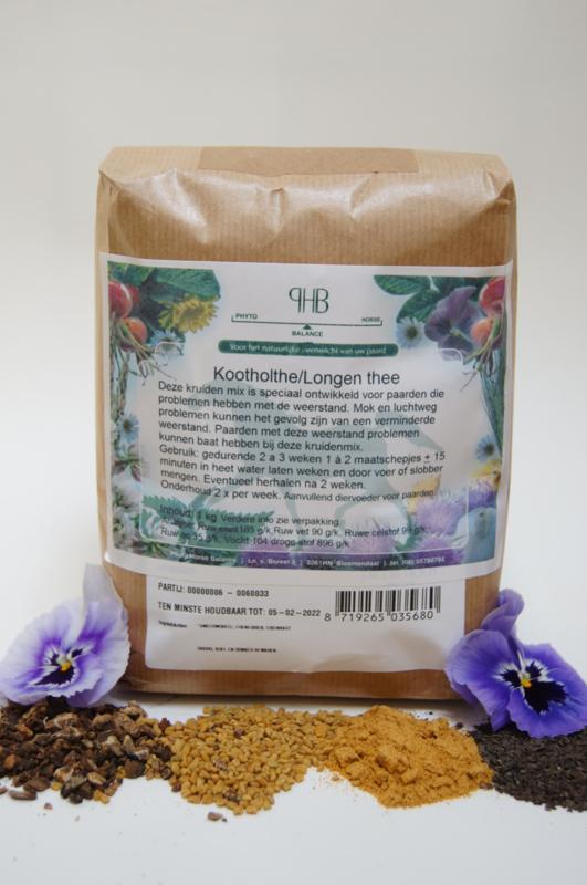 Kootholte/Longen thee 1000 gram