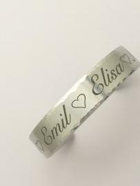 Persoonlijke armband met eigen tekst of naam