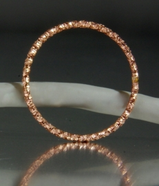 Handgemaakte Rose Gold Filled stapelring, schuifring