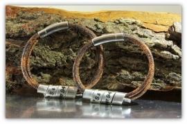 Set van 2 gepersonaliseerde armbanden voor koppels, stelletjes, relatie armbanden, persoonlijk cadeau, persoonlijke tekst sieraden