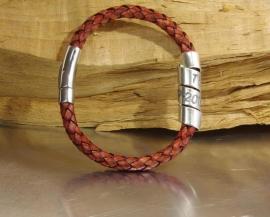 Vaderdag armband met je eigen naam of tekst - Lerenarmband kado voor Papa