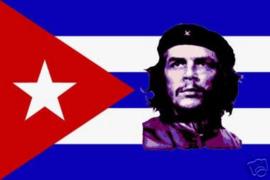 Che Guevara en  Cubaanse  vlag