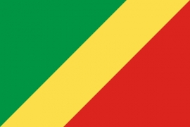 Vlag Congo-Brazzaville republiek