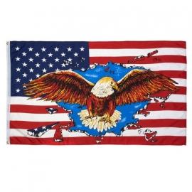 Vlag Amerika met Adelaar