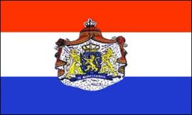 Nederlandse vlag met Wapen