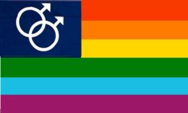 regenboog Mars vlag (man)