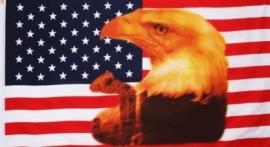 Vlag Amerika met Grote Adelaar