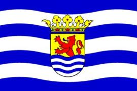 Provincievlag Zeeland met Provinciewapen van Zeeland
