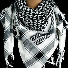 Grote Plo sjaal zwart witte