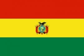 Vlag van Bolivia met Embleem