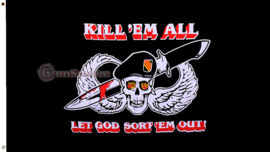 Militiare vlag Kill em all let god sort em out