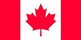 vlag Canada  met 2 oogjes om op te hangen. 90 x 150 cm