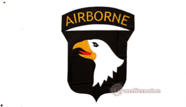 "Vlag De 101st Airborne Division (""Screaming Eagles"") white"