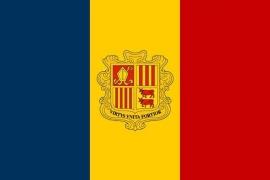 Vlag Andorra 150 x 90cm