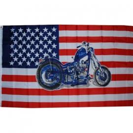 Vlag Amerika met Moter