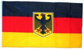 Duitsland grote  vlag met wapen XXXL 150 x 250 cm
