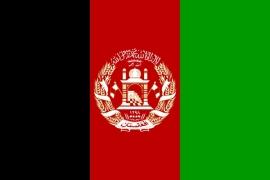 landen Vlag van Afghanistan