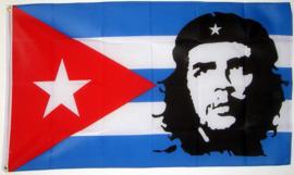 Cuba vlag met Che Guevara