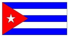 Vlag xxl van Cuba groot