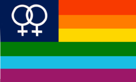 Regenboog Venus  vlag (vrouw)