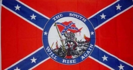 "Vlag Rebel "" THE SOUTH WILL RISE AGAIN"