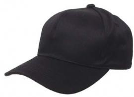Baseball Cap zwart de luxe