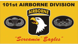 Vlag Airborne 101e division geel