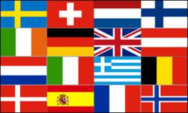 16 landen vlag van europa
