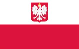 Vlag Polen met embleem