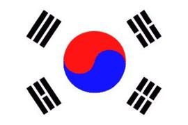 Grote Vlag van Zuid-Korea 150 x 250 cm